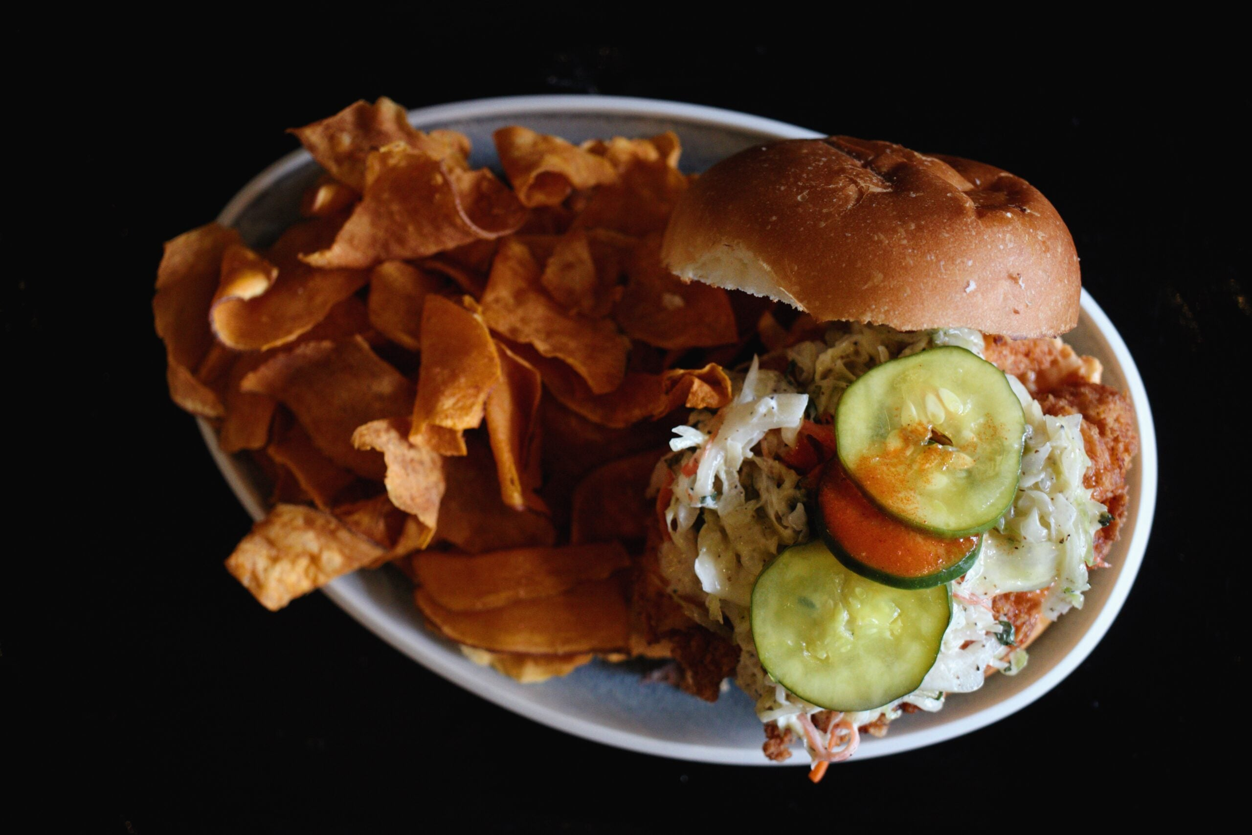 Fried chicken sandwich at Pollo Club