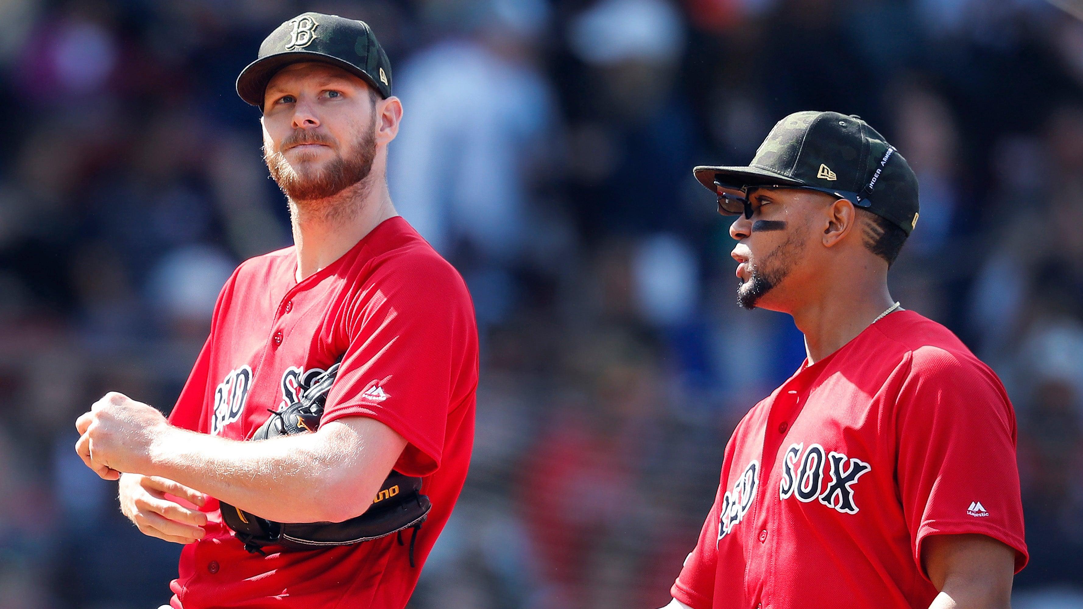 Chris Sale Xander Bogaerts Red Sox