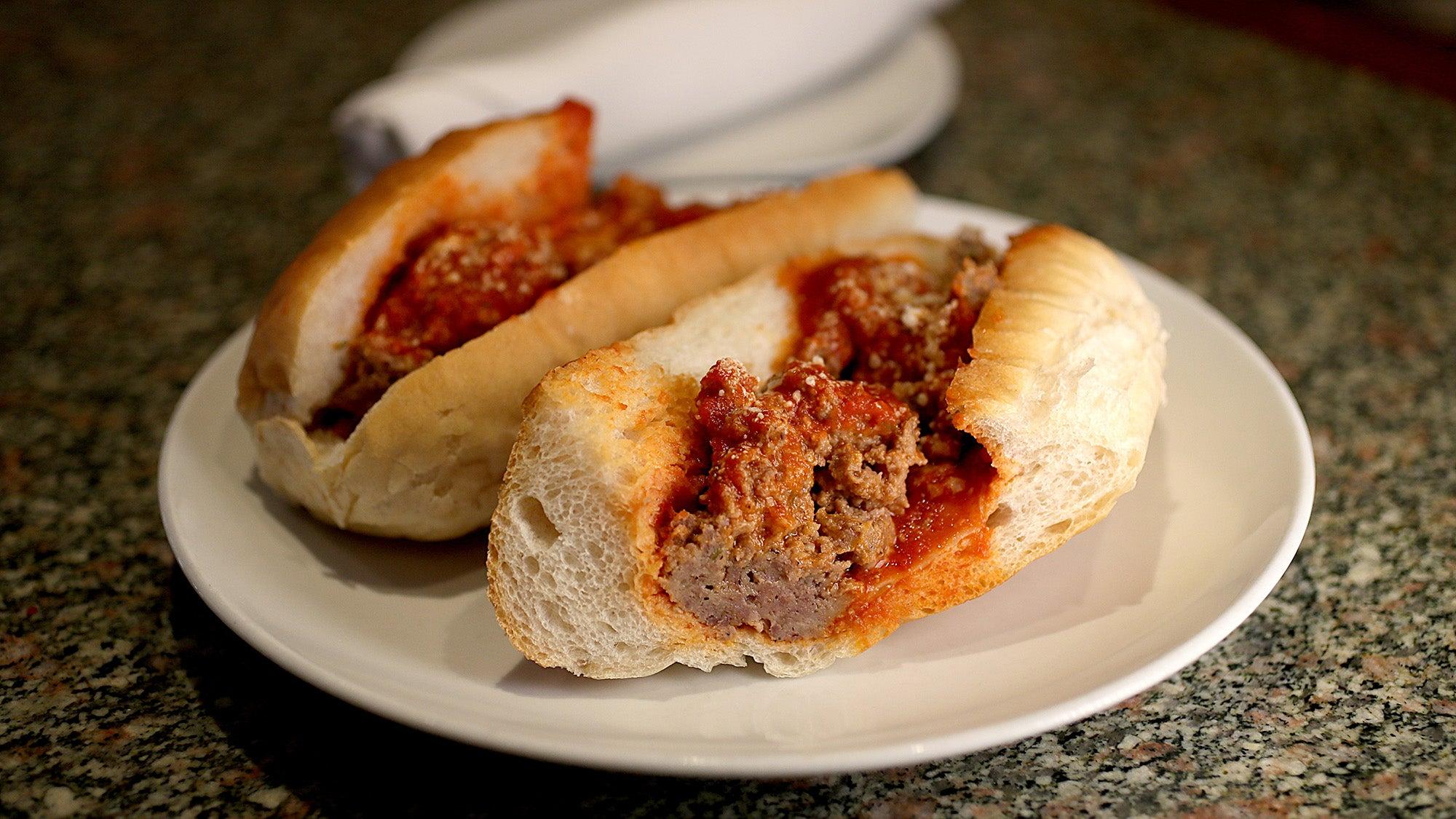 Meatball panini at Artú