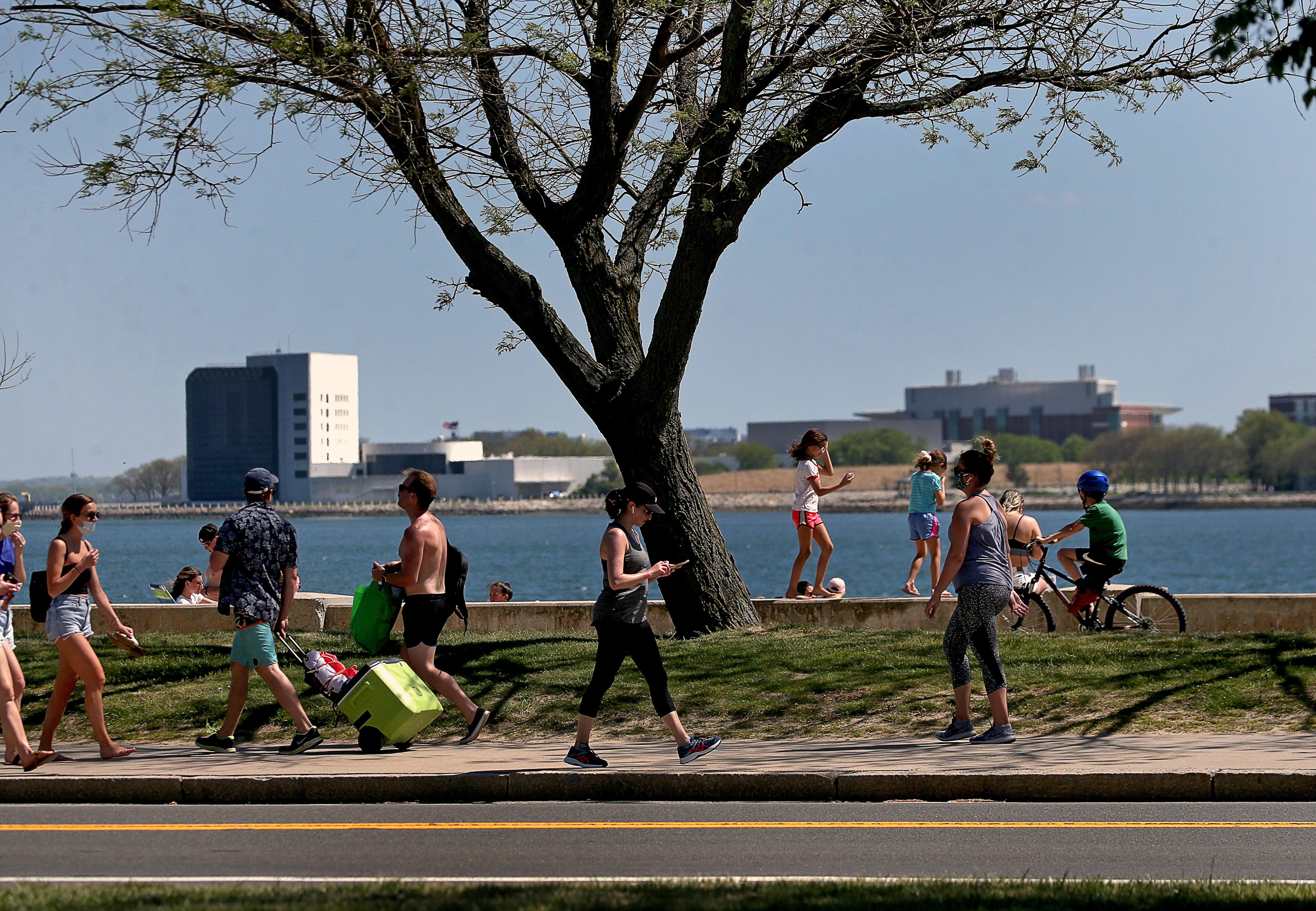 Beachgoers at South Boston's beaches.