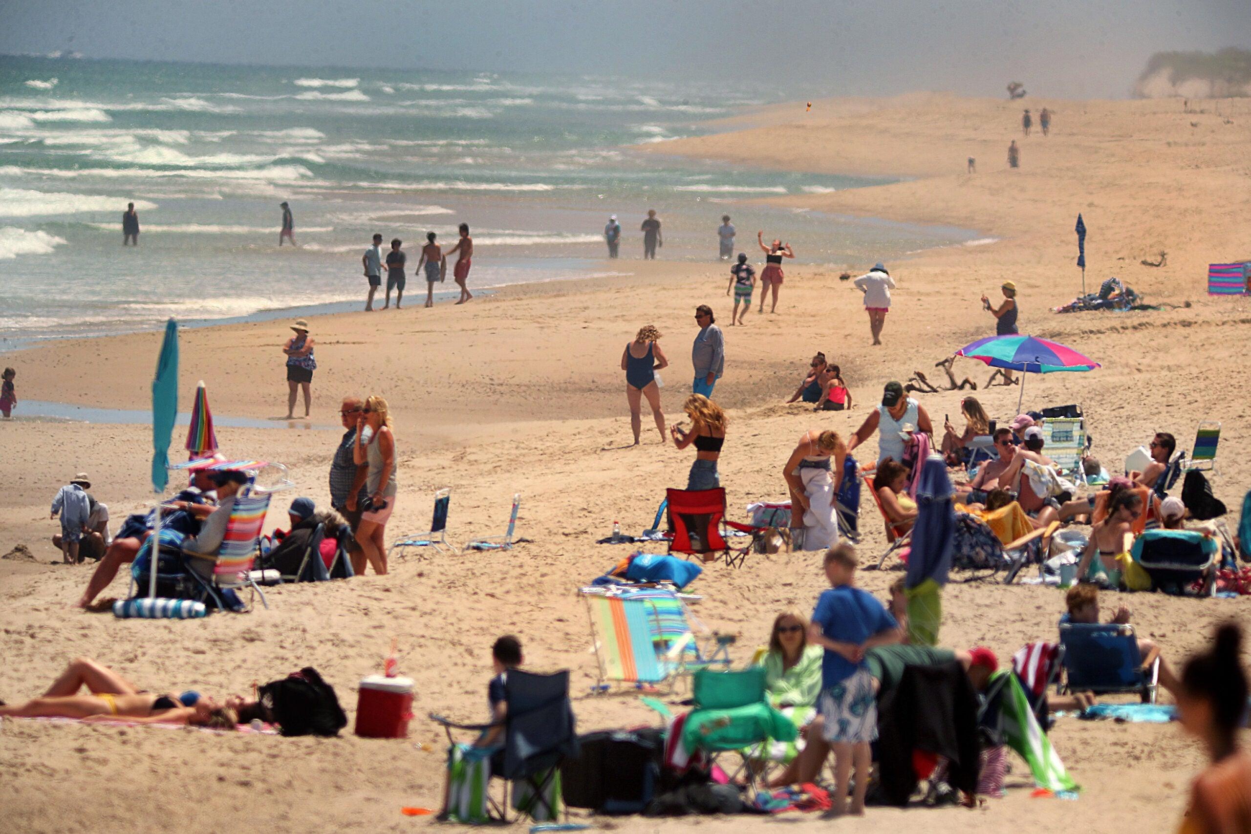 Nauset Beach in Orleans on Thursday.