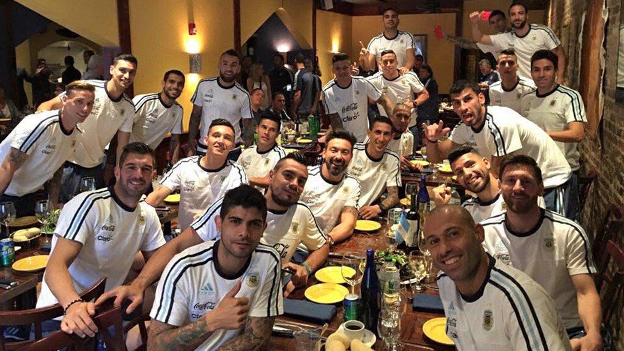 Argentina's soccer team ate at Tango Restaurant