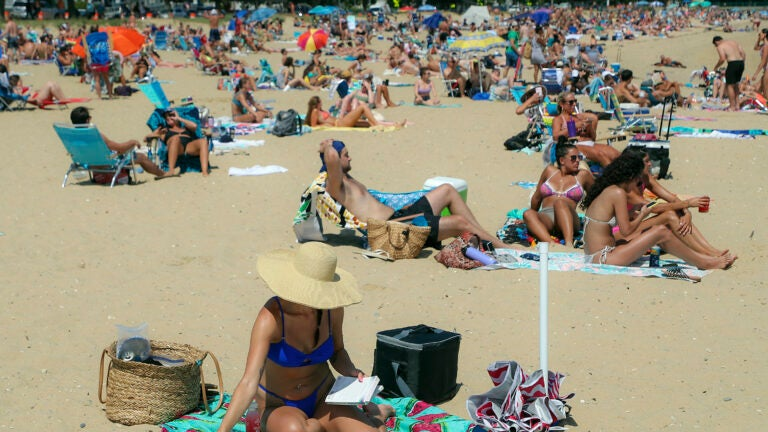 M Street Beach in South Boston.