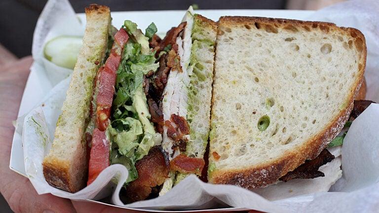 The Turkey Avo sandwich at the Bacon Truck