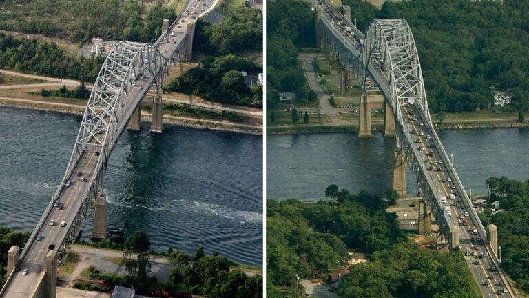 Sagamore and Bourne Bridges