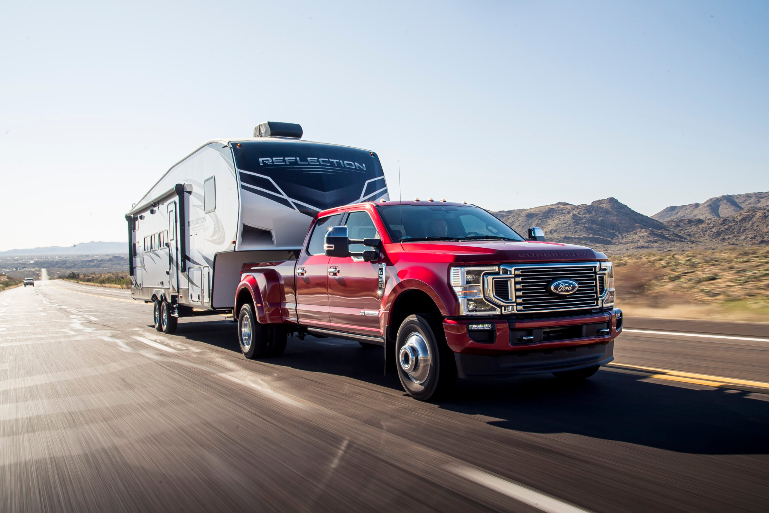The 2020 Ford F-350 Platinum.