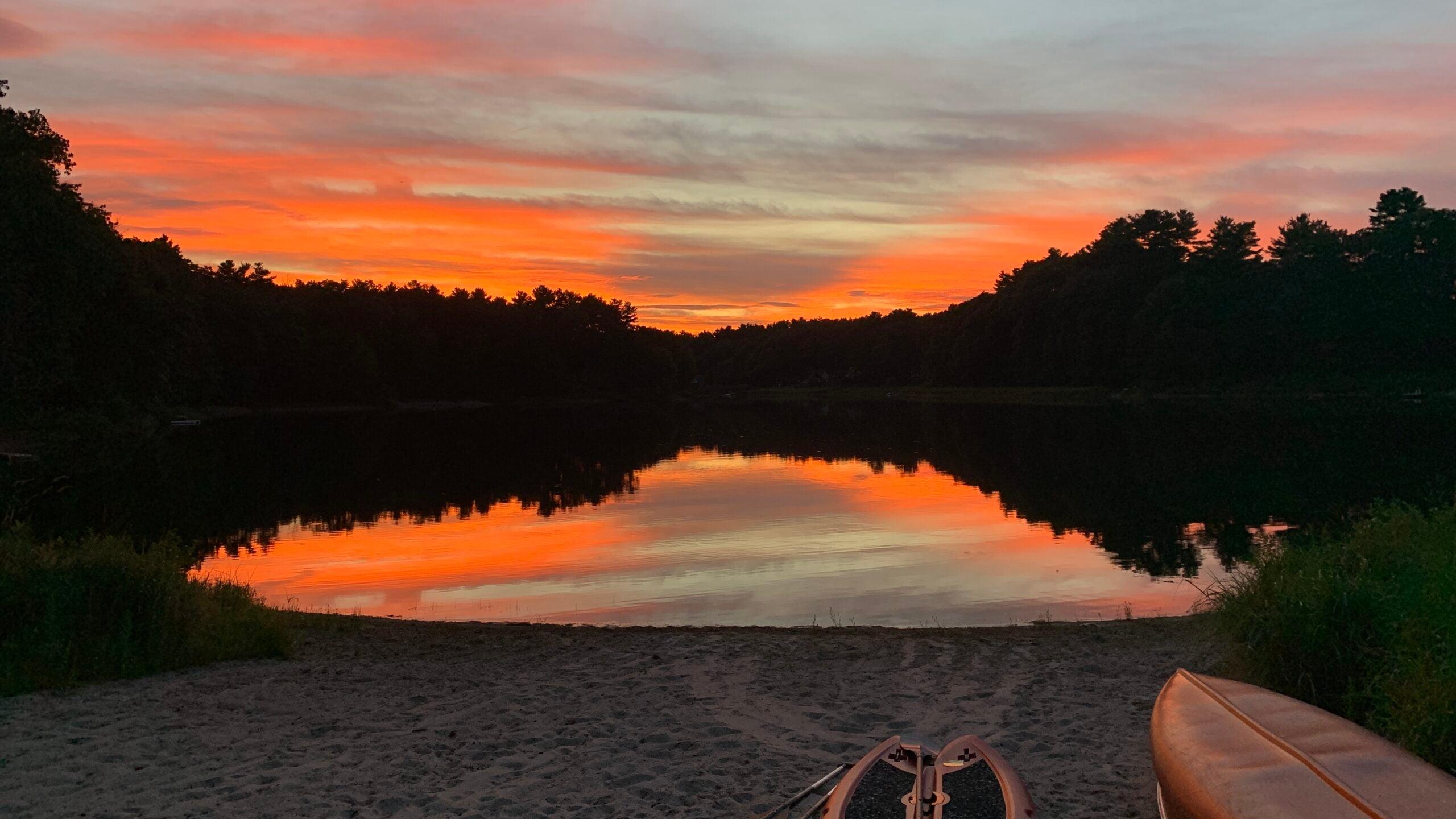 Sunset at Kingsbury Pond in Norfolk