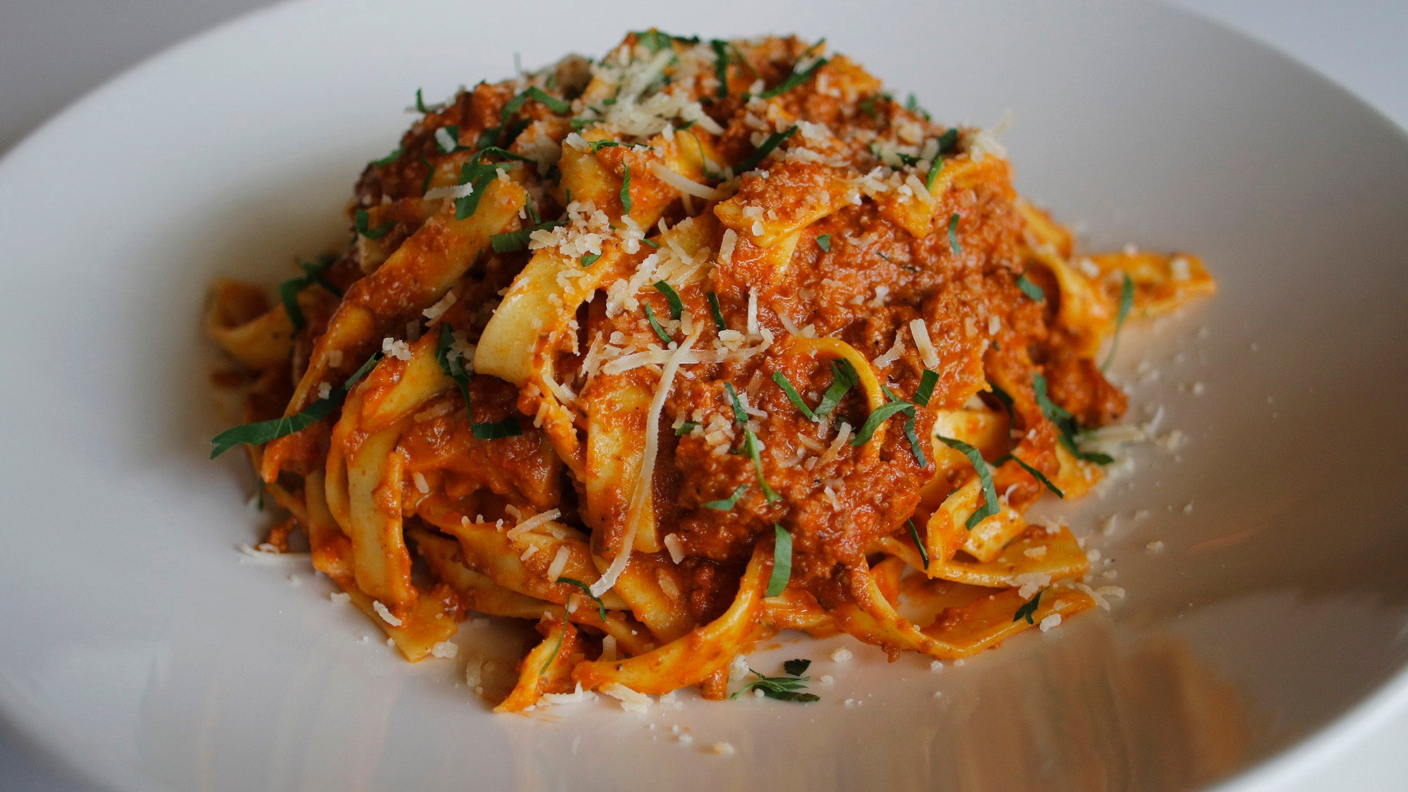 Tagliatelle with bolognese at Stella