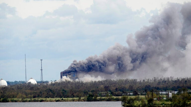 A fire at a chemical plant, BioLab Inc.