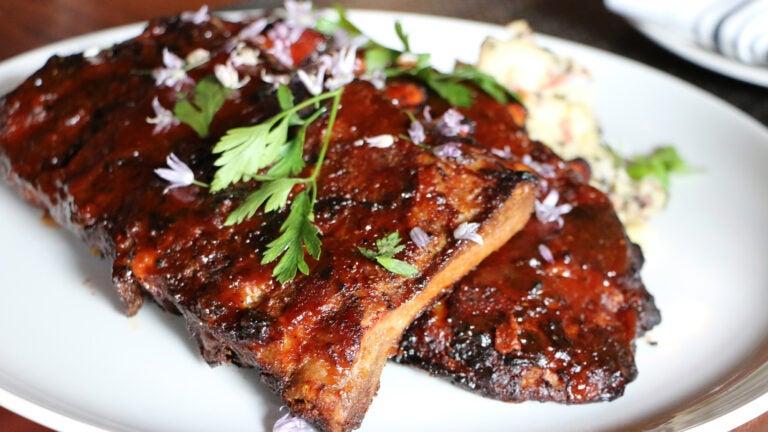 Barbecue ribs at Post 390