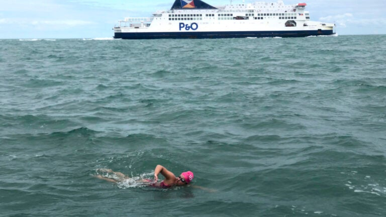 Teen Swims English Channel