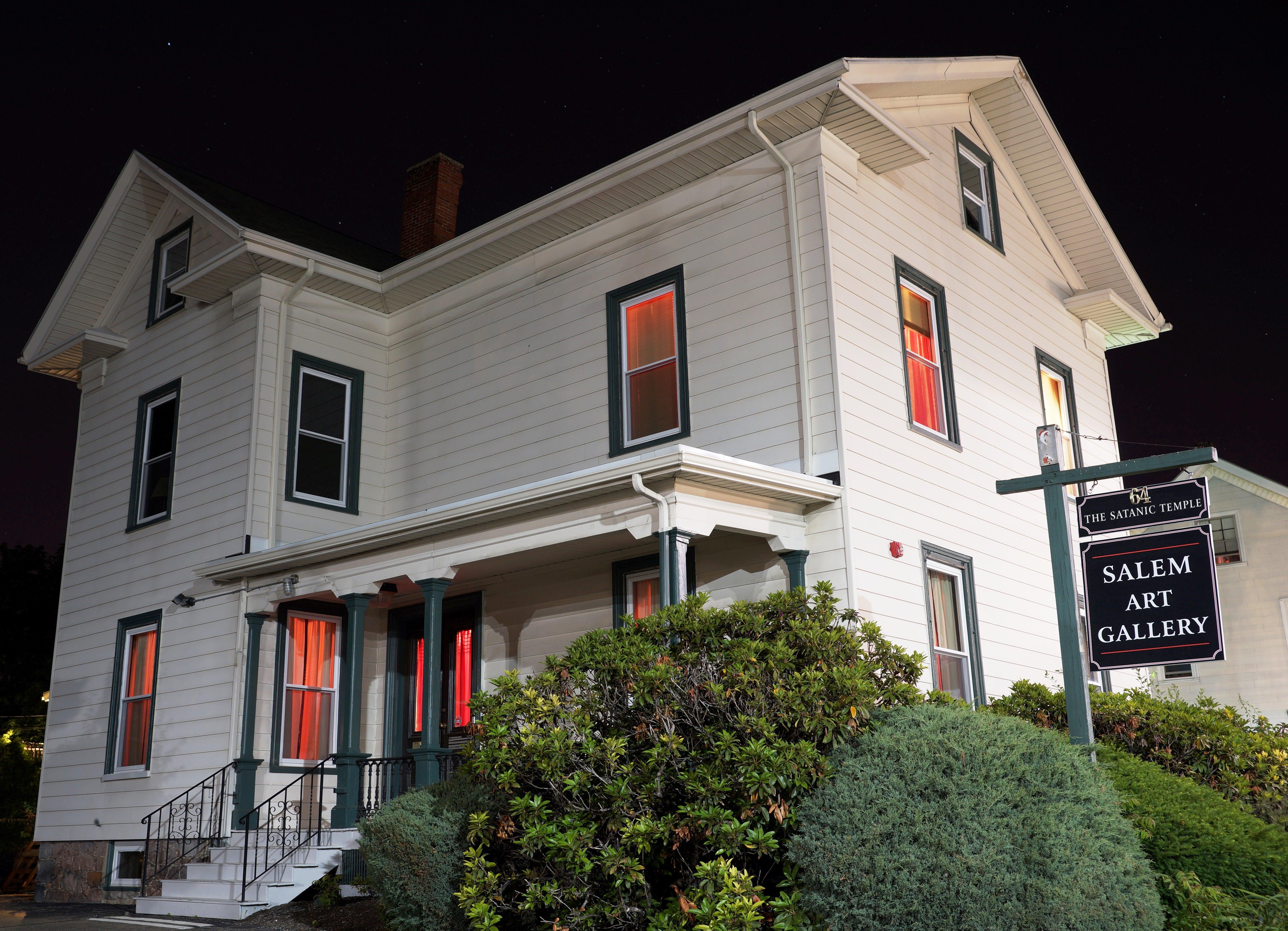 The Satanic Temple building on Bridge Street in Salem.