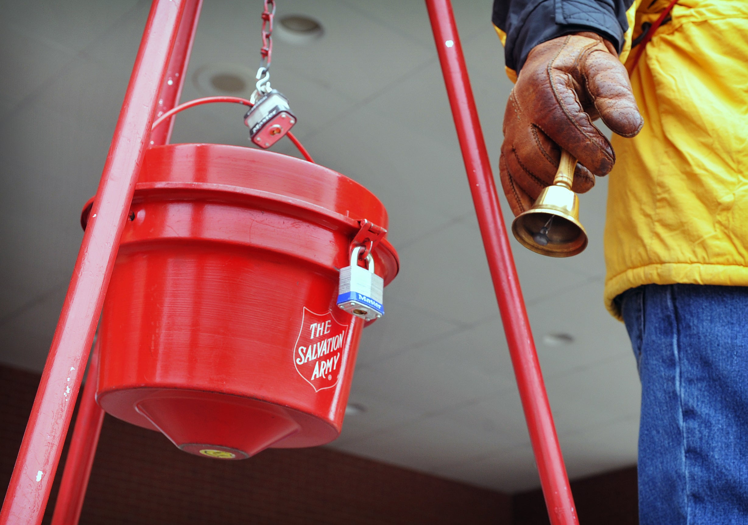 A Salvation Army donation kettle