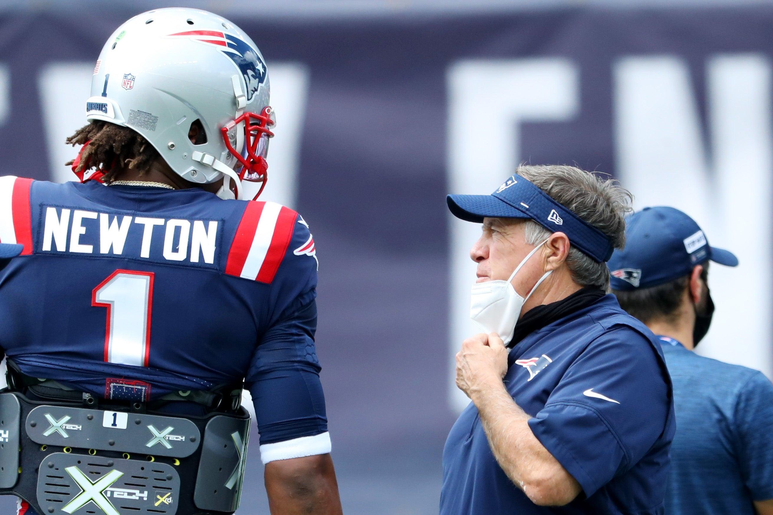 Belichick Newton Patriots starter