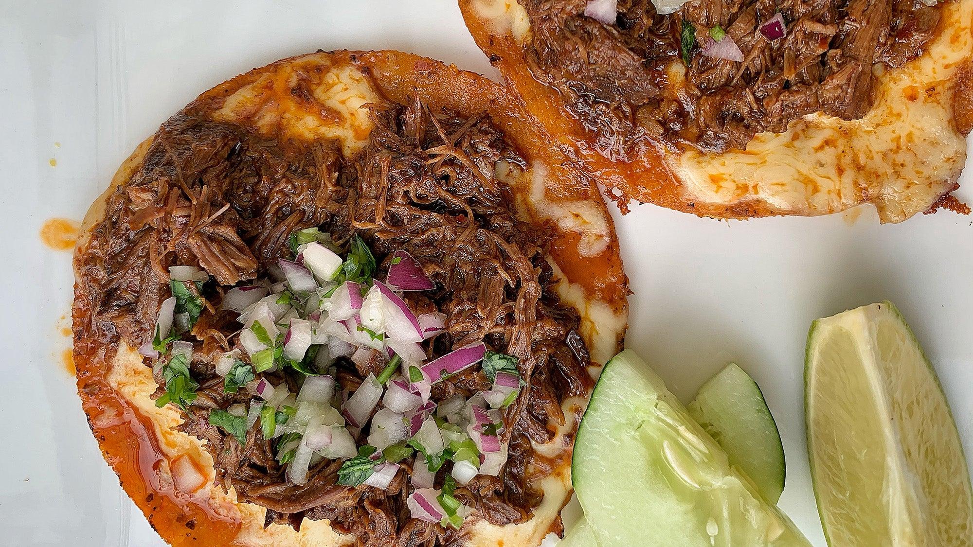 Birria tacos at Taqueria el Barrio