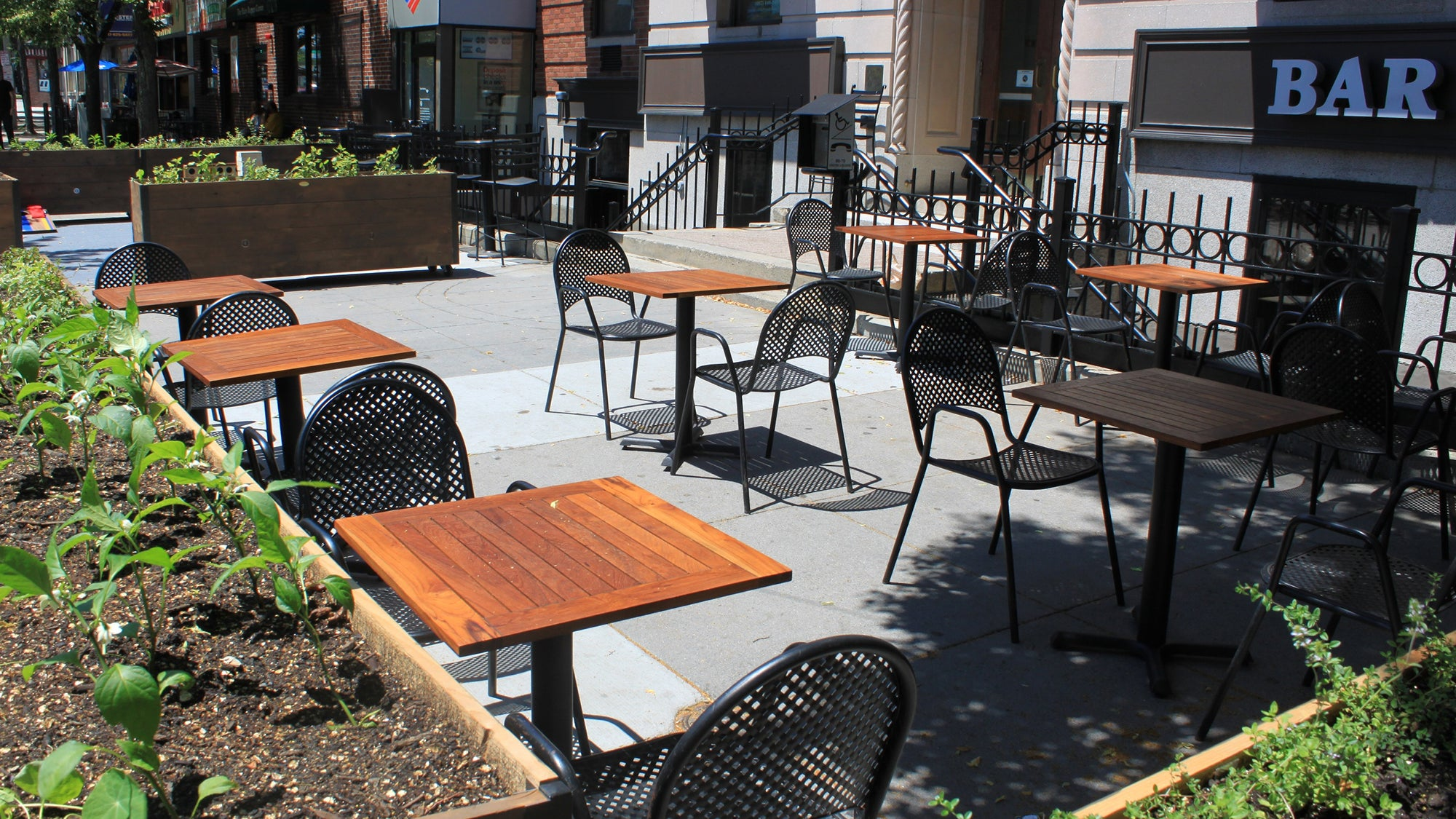 Brass Union's patio in 2018