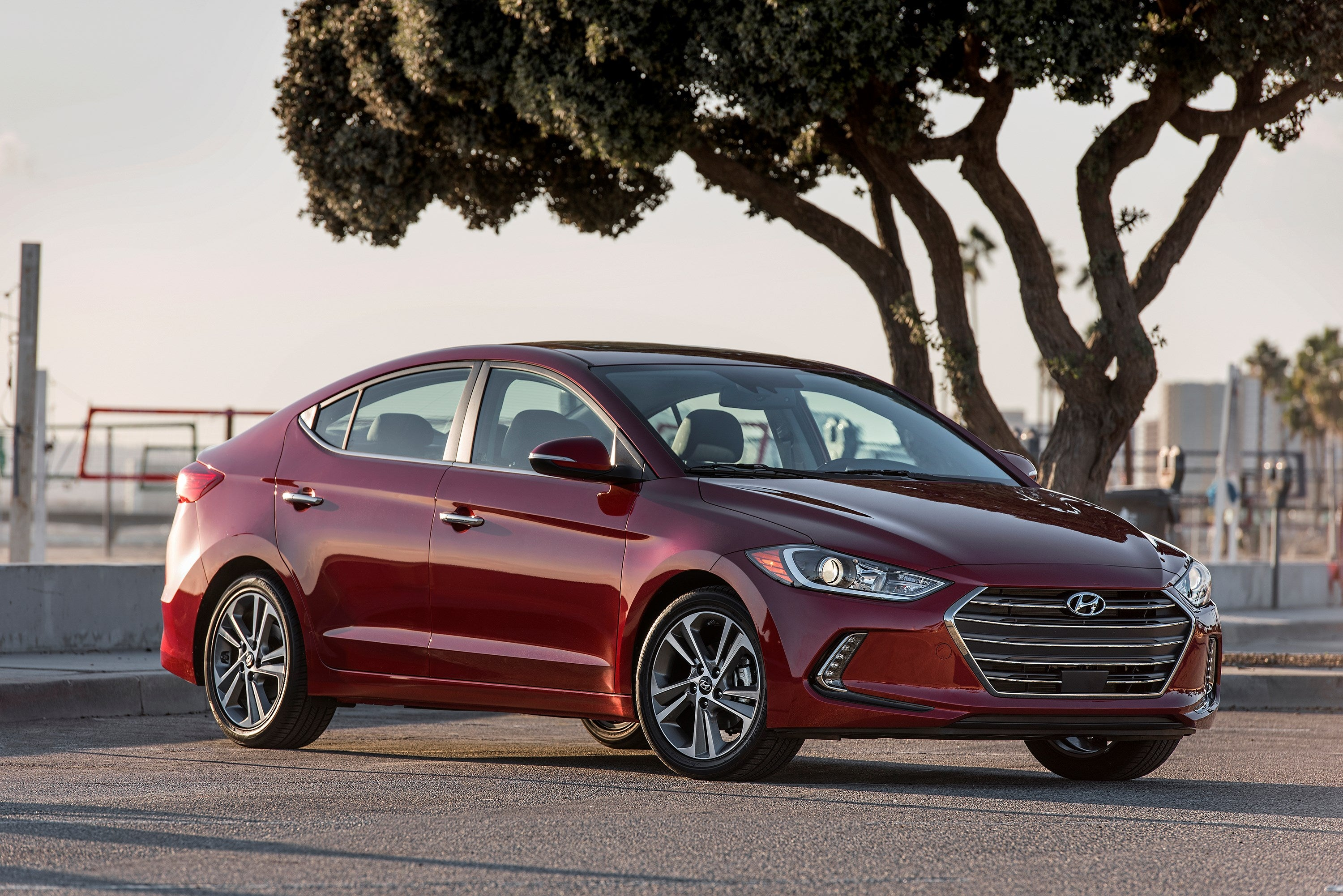 The 2017 Hyundai Elantra sedan.