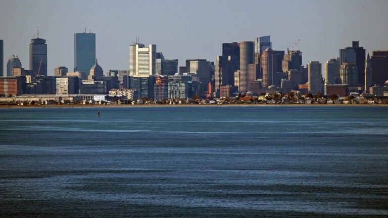 City of Boston skyline.