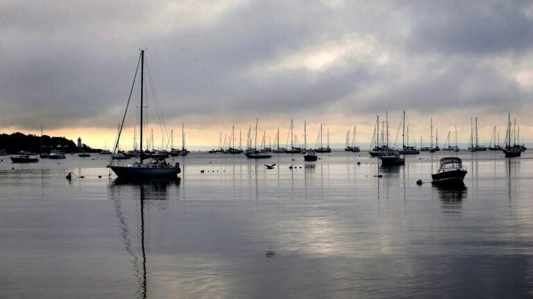 Boats moored at Mattapoisett.