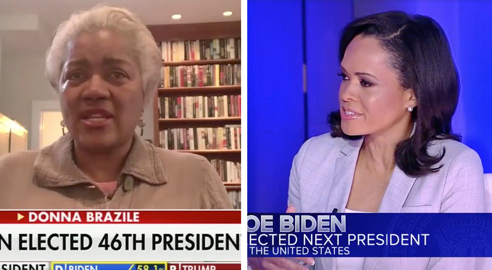 Donna Brazile and Linsey Davis