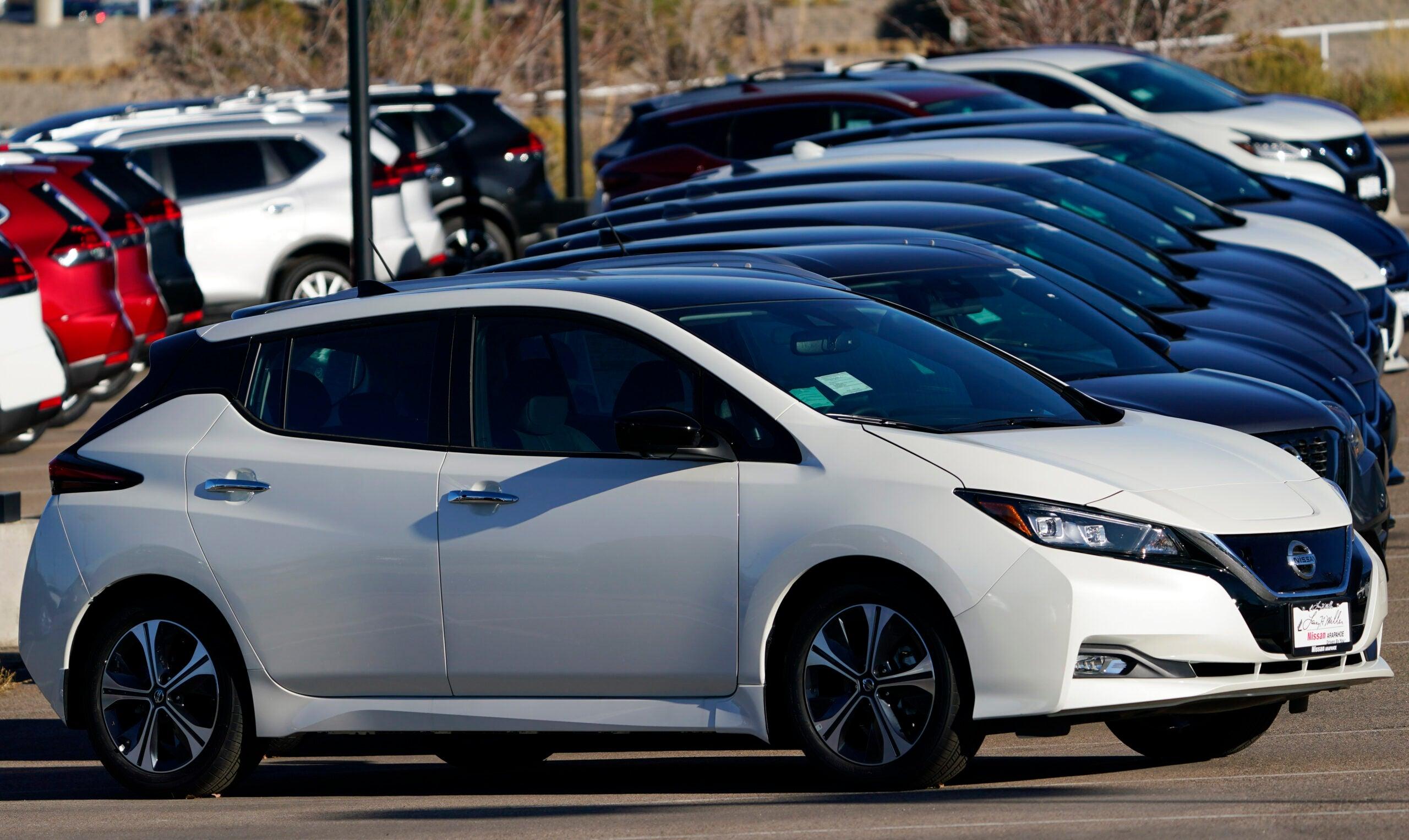 2021 Nissan Leaf electric vehicles