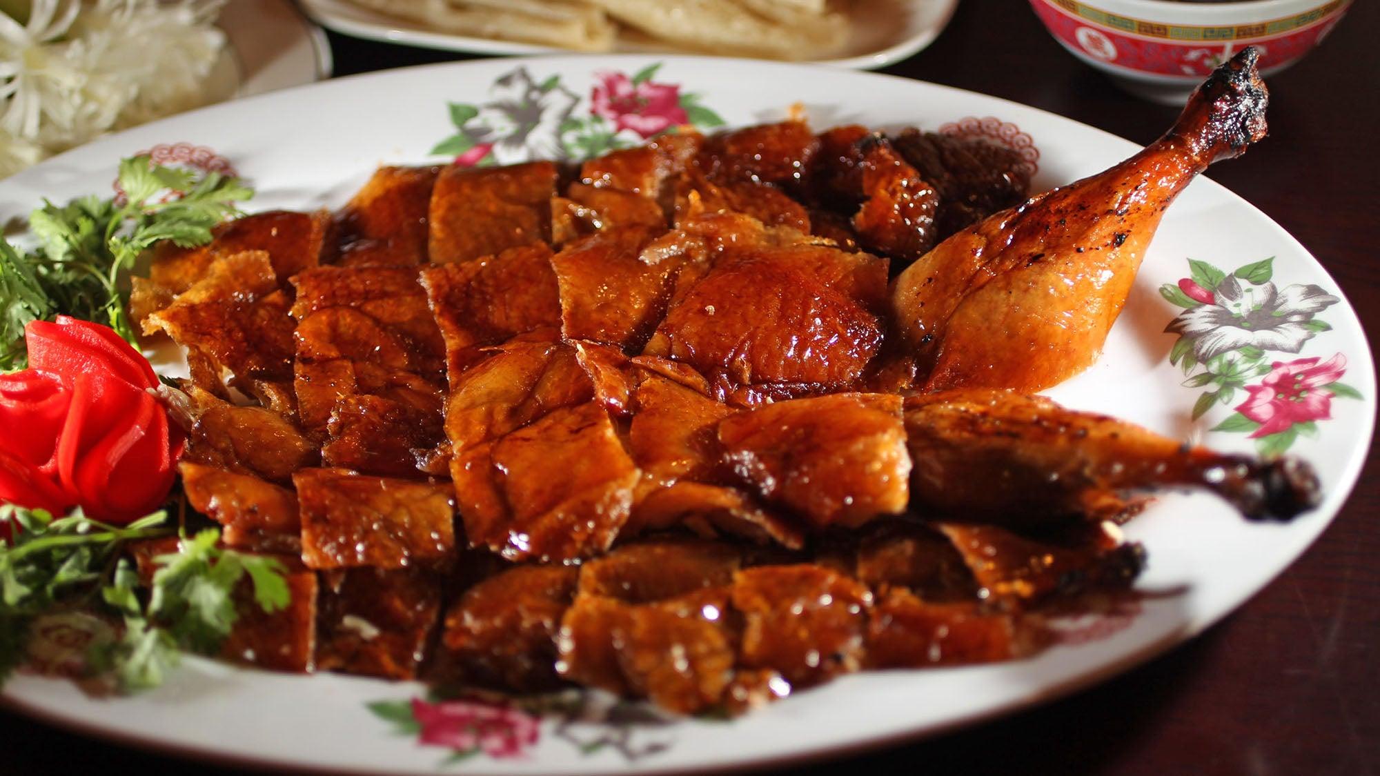 Peking duck at China King