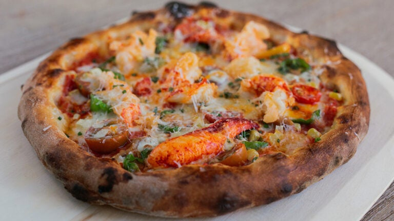 Lobster pizza at Saltie Girl Seafood Pizza