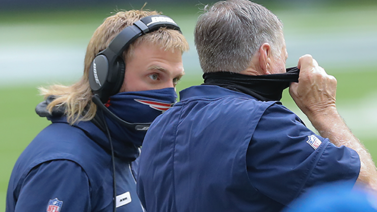 Belichick coaching with sons