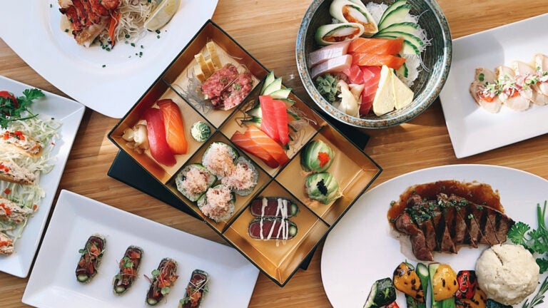 Valentine's Day spread at Douzo Sushi