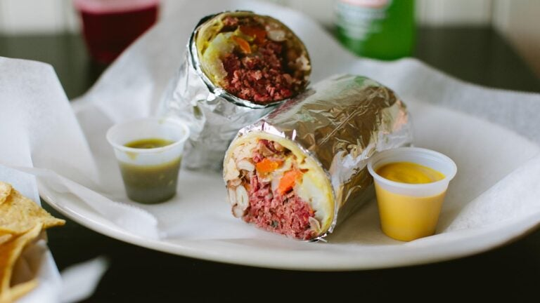 Corned beef and cabbage burrito from Anna's Taqueria