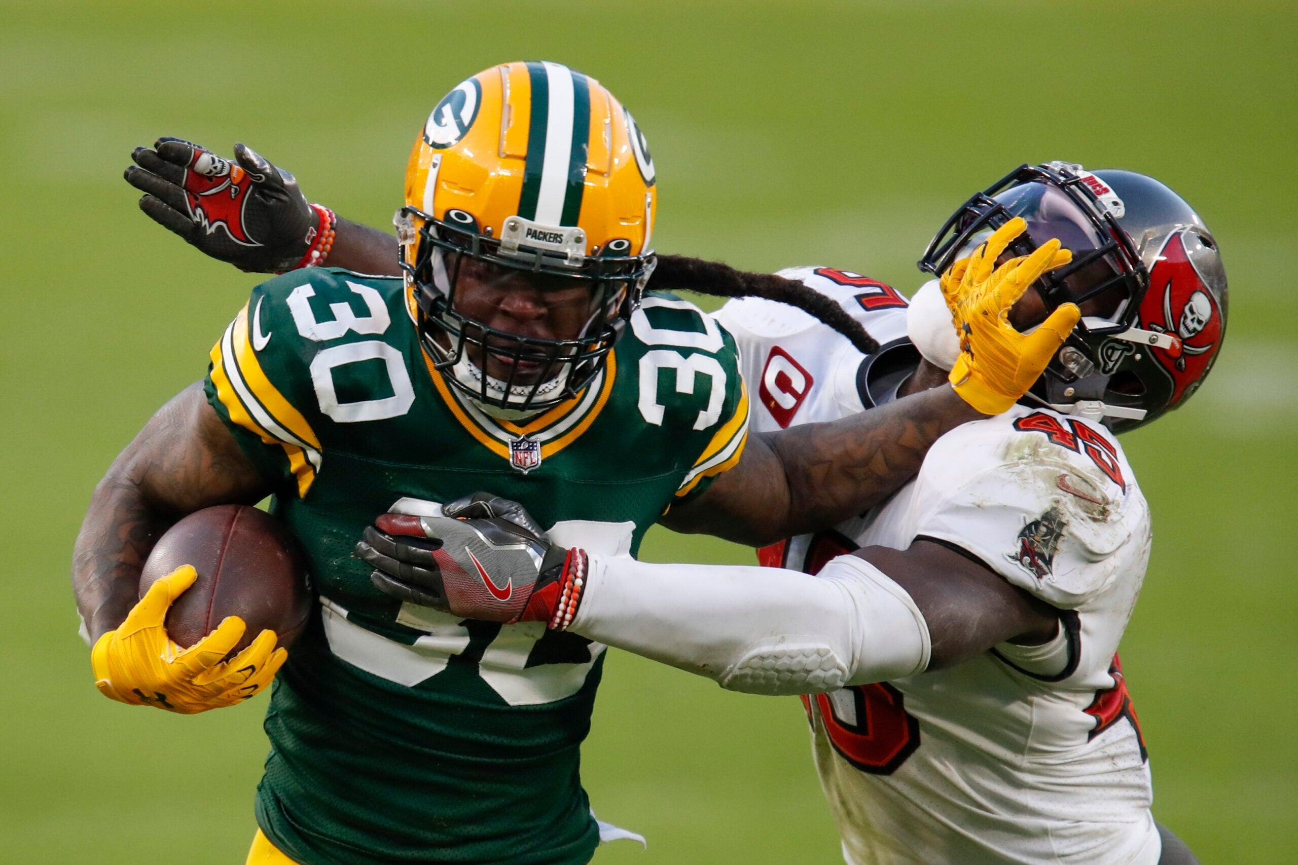 Packers Jamaal Williams Patriots