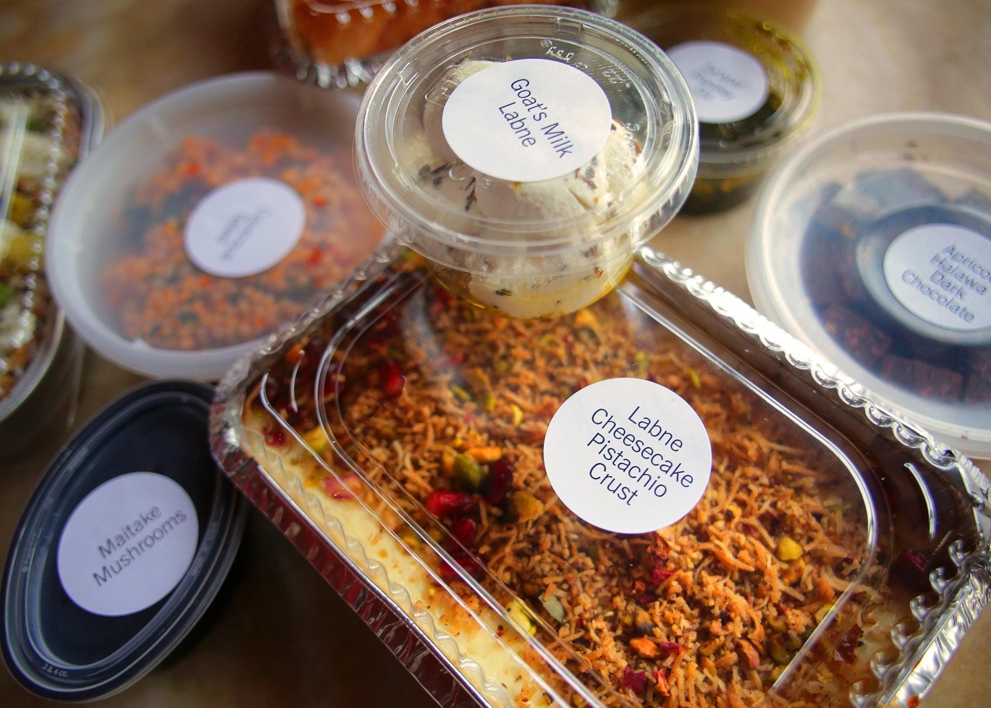 Vegetarian subscription box at Oleana