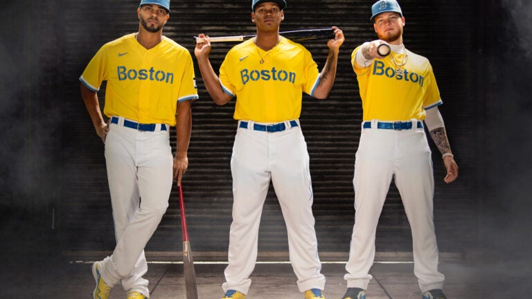 Red Sox City Connect Patriots Day Jerseys