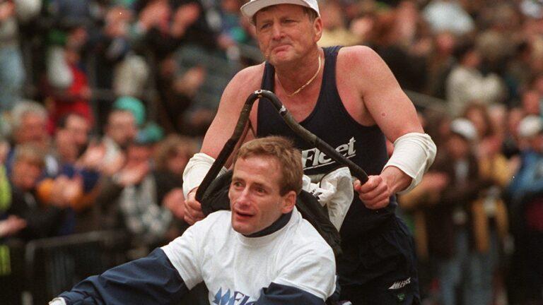 Rick Hoyt Dick Hoyt Boston Marathon