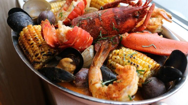 Lobster boil at Grand Banks Fish House