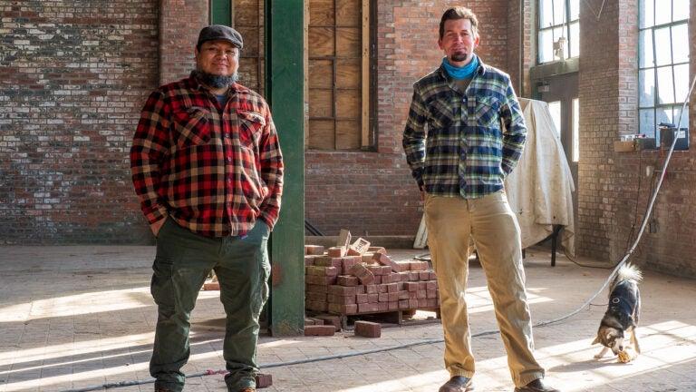Luis Espinoza and Craig Panzer, owners at Roundhead Brewing Co.