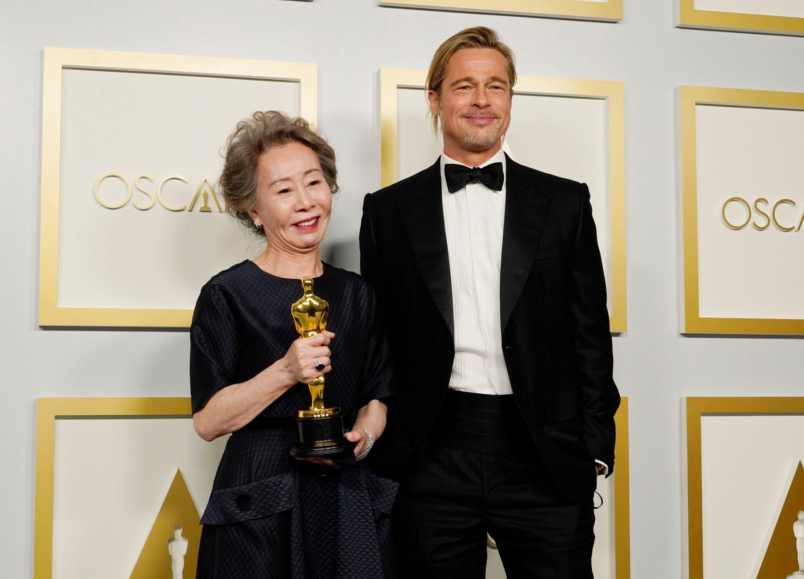 Youn Yuh-Jung Brad Pitt 2021 Oscars