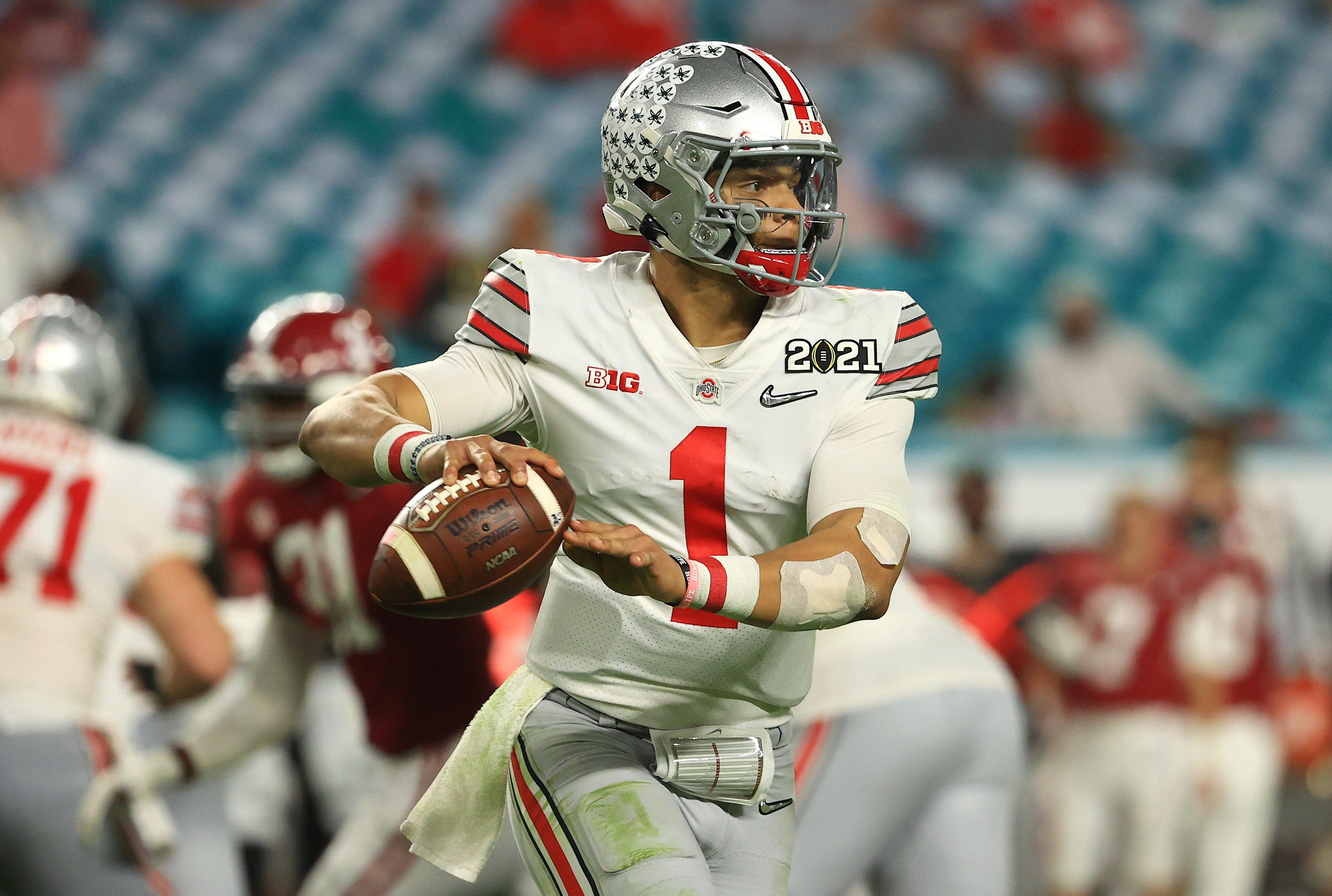 Justin Fields Patriots NFL Draft