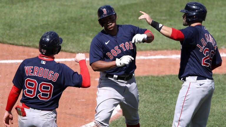 Red Sox J.D. Martinez Rafael Devers