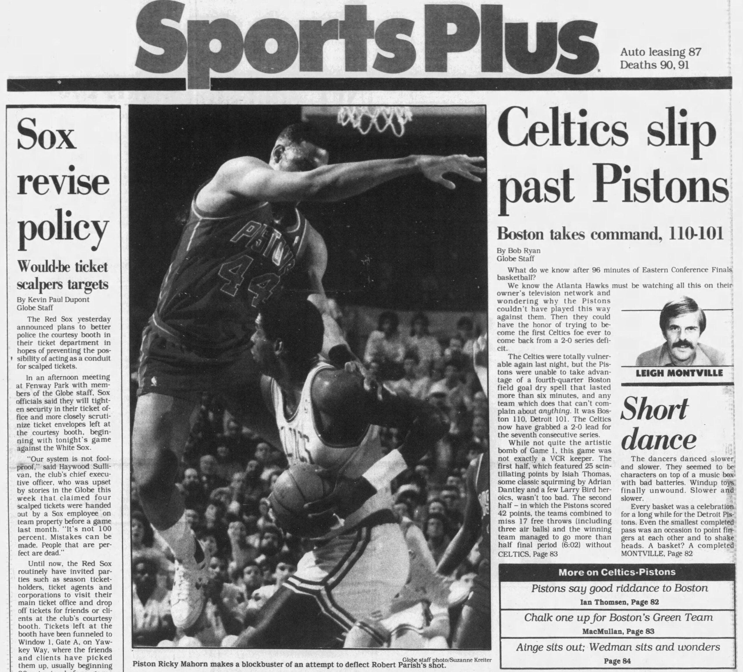 Celtics Pistons Game 2 Boston Globe