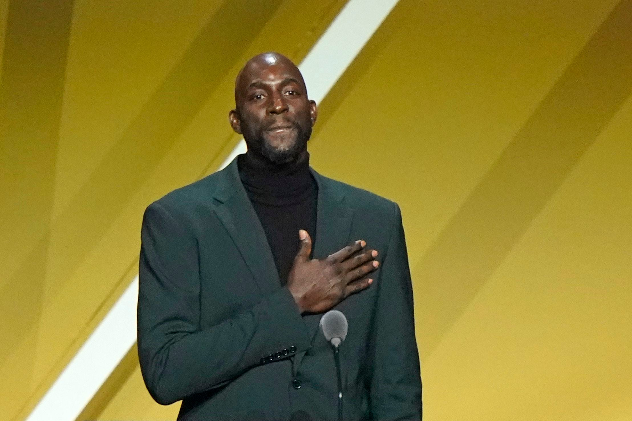 Here's what Kevin Garnett said in his Hall of Fame speech