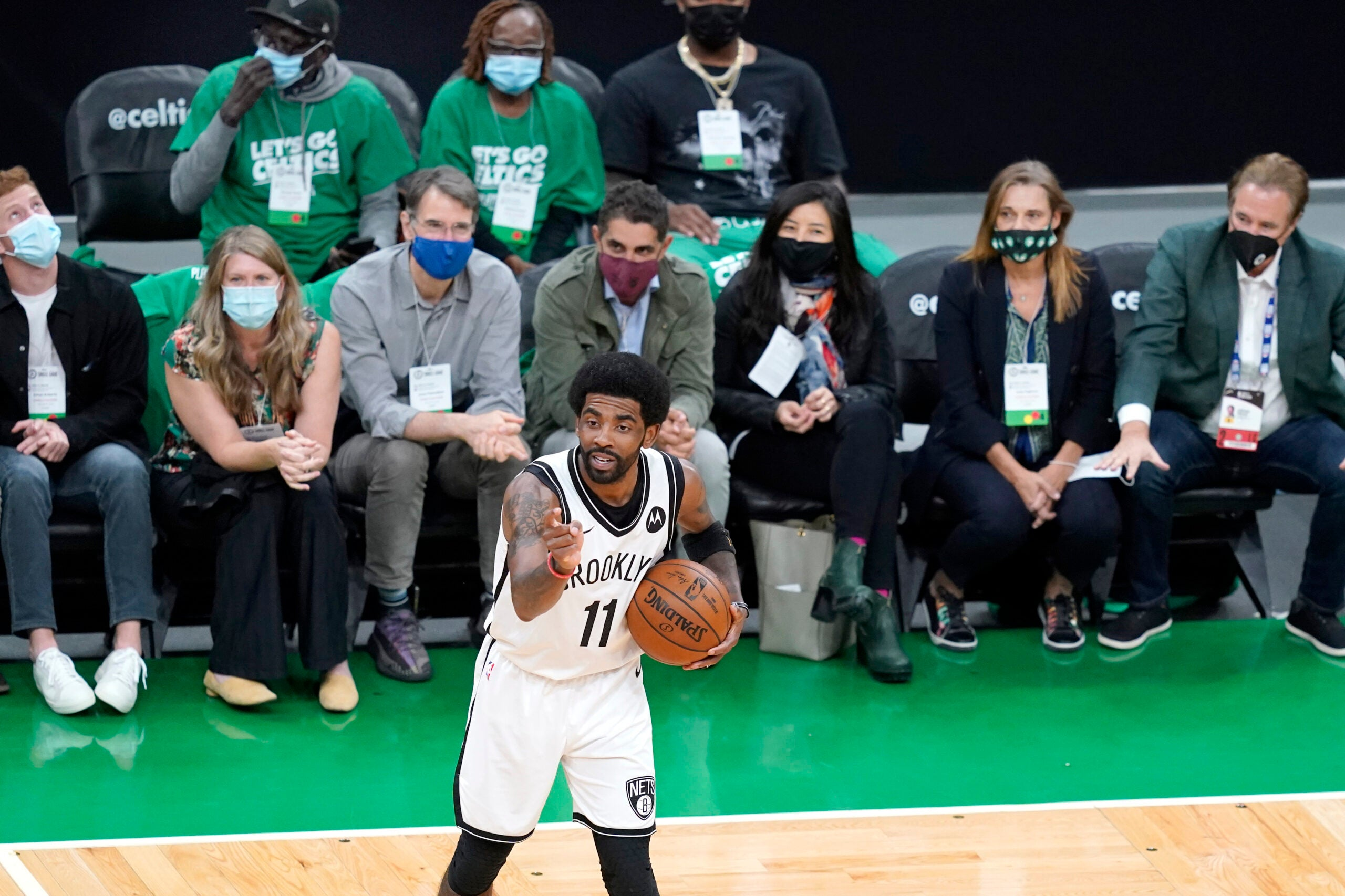 'I've been in a few environments in my life': Kyrie Irving reacts to his Boston return in front of fans - Boston.com