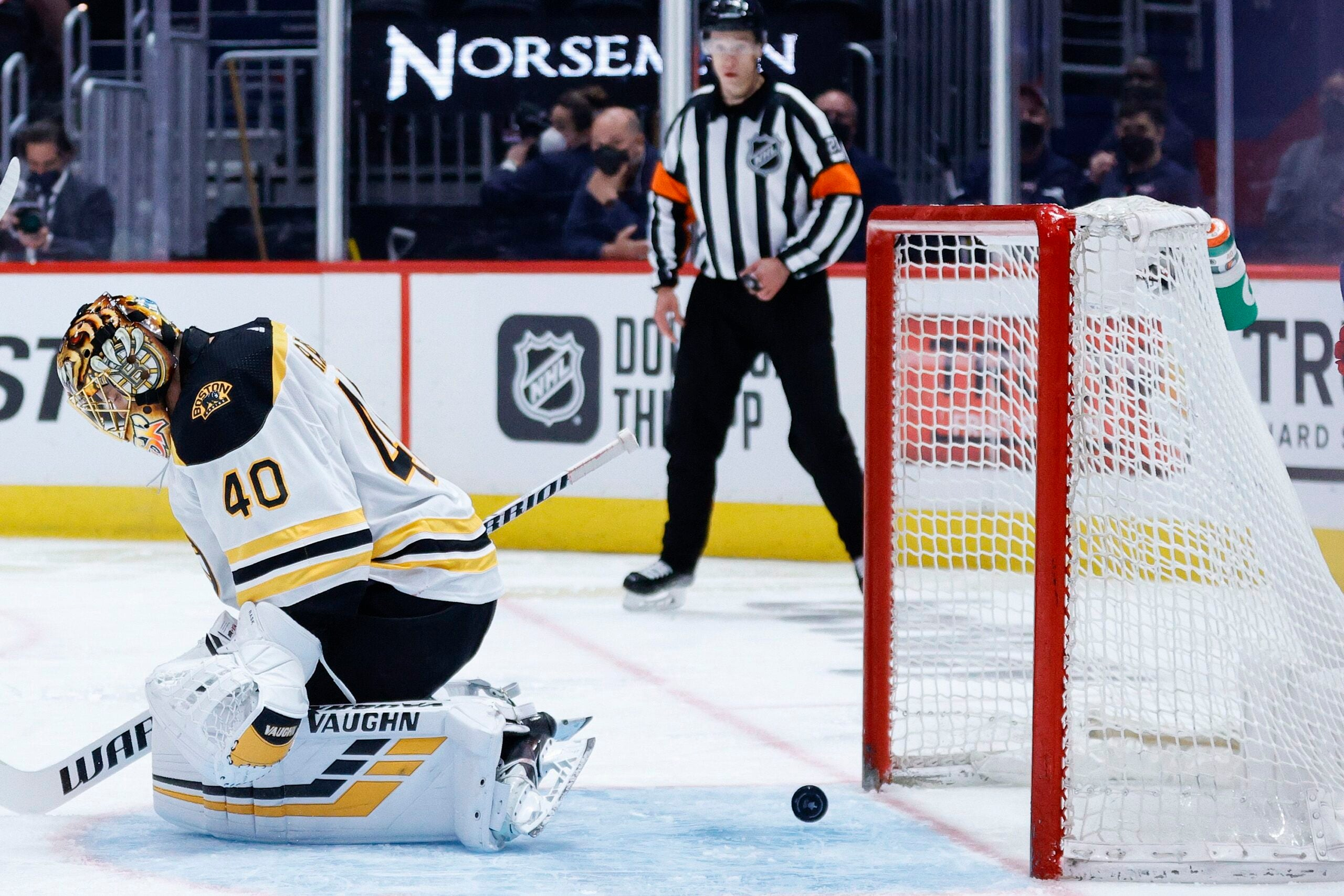 Tuukka Rask explained what happened on Nic Dowd's overtime winner in Game 1