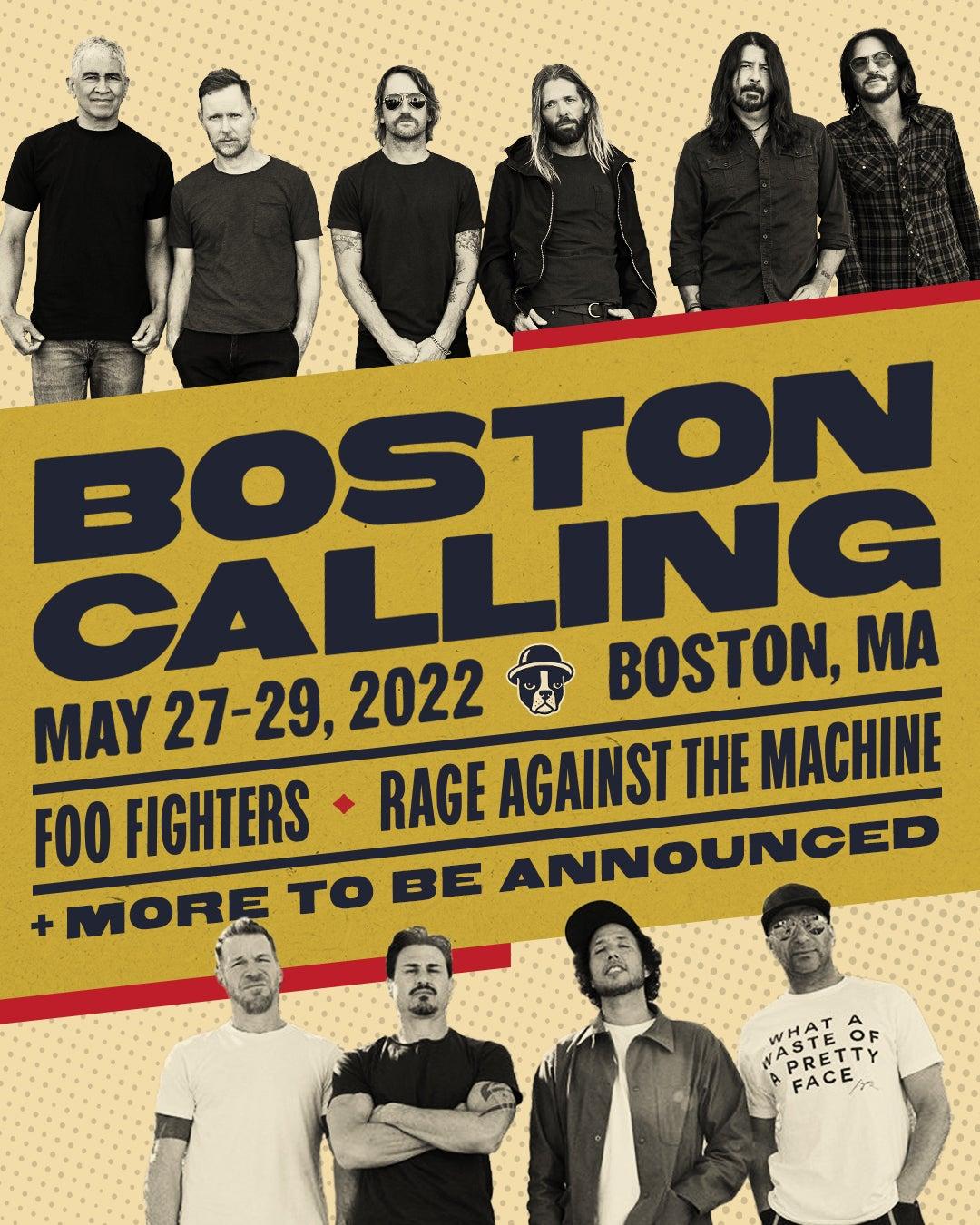 Boston Calling 2022 headliner announcement.