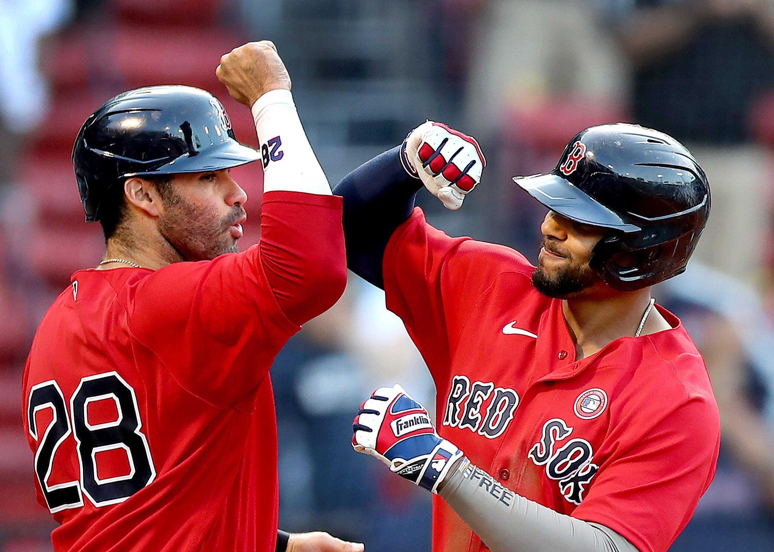 J.D. Martinez and Xander Bogaerts are two of the top 15 offensive producers in baseball this season, as is teammate Rafael Devers.