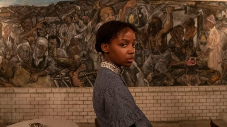 "Thuso Mbedu as Cora in ""The Underground Railroad."""
