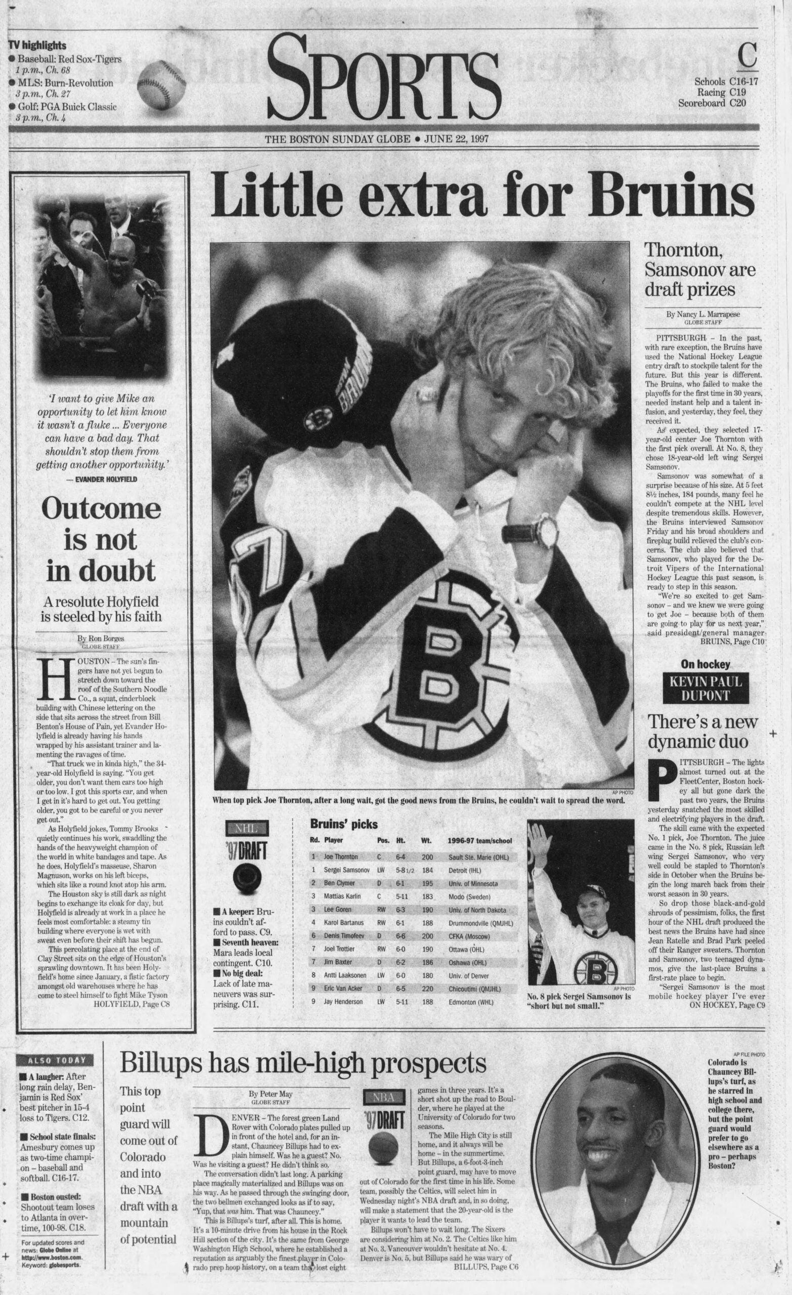 1997 Globe NHL Draft