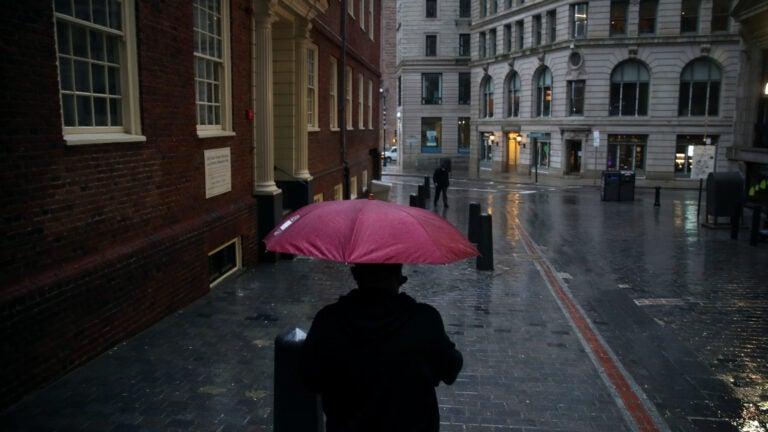 A rainy morning in Boston.