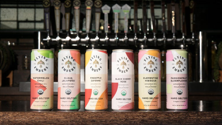 Hard seltzer from Flying Embers