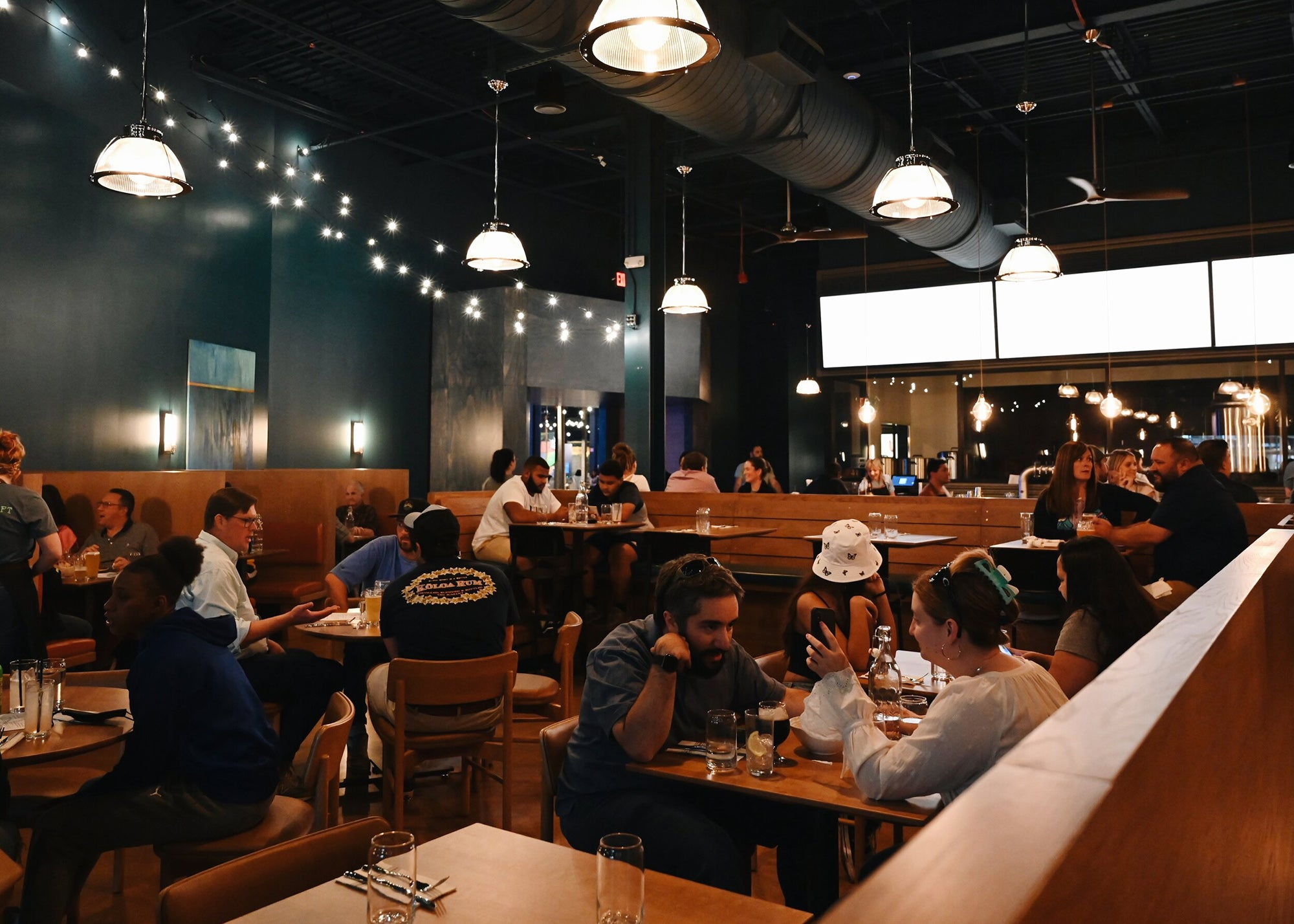 Night Shift Brewing tap room at Level99